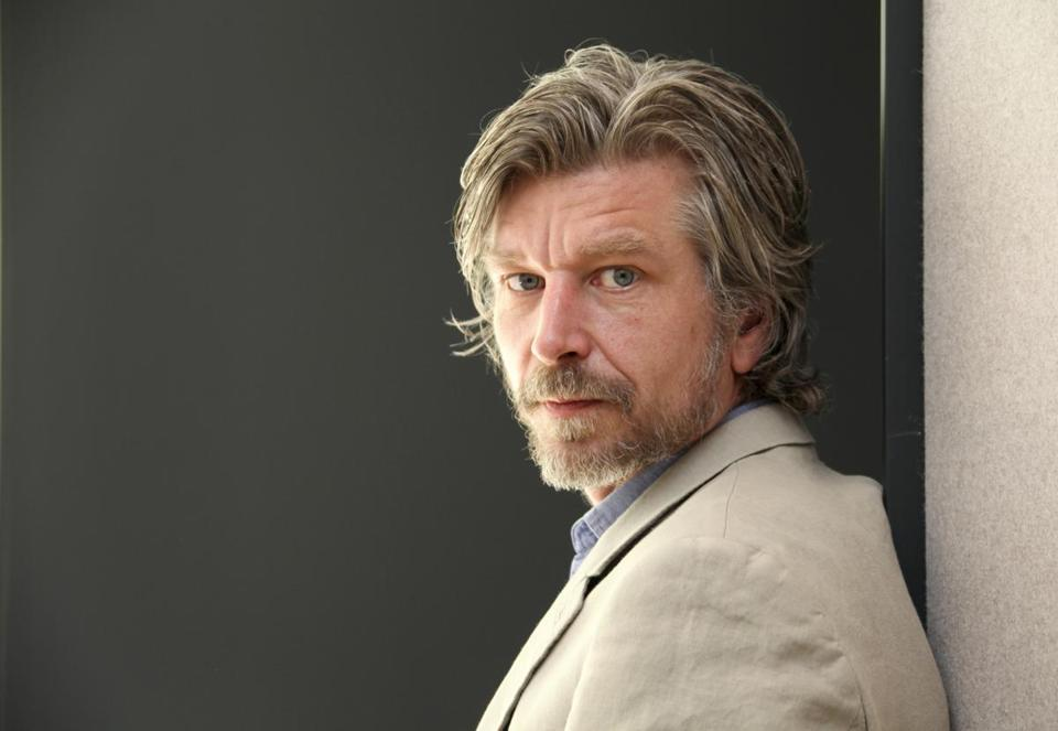 "FILE -- Karl Ove Knausgaard, a Norwegian novelist, in New York, April 30, 2012. Knausgaard's six-part novelistic memoir, titled ""My Struggle,"" the latest of installation of which, ""Boyhood,"" comes out in May of 2014, has captivated much of the literary establishment with its combination of micro-focus on the detail of daily life and earnest meditations on art, death, music and ambition. (Chester Higgins Jr/The New York Times) 15Knausgaard -- 29TyColumn"